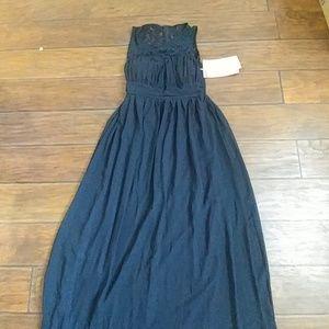 Prom dress size medium navy blue brand new with ta